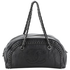 Chanel Luxe Ligne Bowler Bag Leather Medium