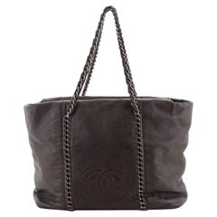 Chanel Luxe Ligne Zip Top Tote Calfskin Large