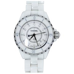 Chanel J12 White Ceramic Diamond Dial Watch