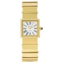 Chanel Mademoiselle 18 Karat Yellow Gold Roman Dial Diamond Quartz Ladies Watch