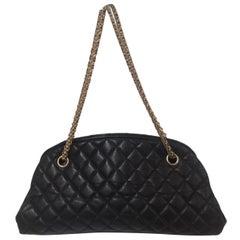 Chanel mademoiselle black leather shoulder bag