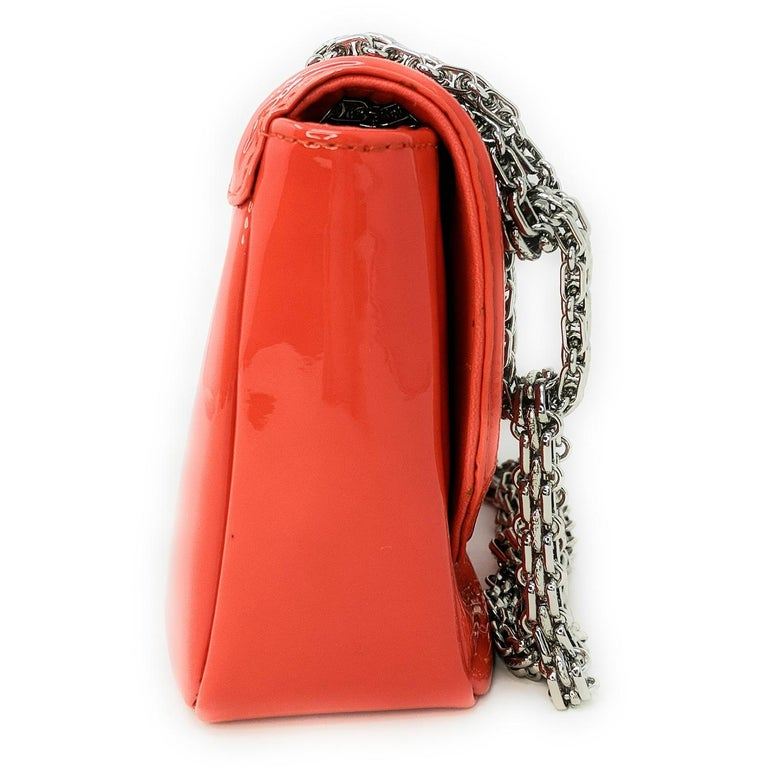 Red Chanel Mademoiselle Lock Linked Bijoux Chain Flap For Sale