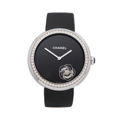 Chanel Mademoiselle Prive 18K White Gold H3093 Ladies Wristwatch