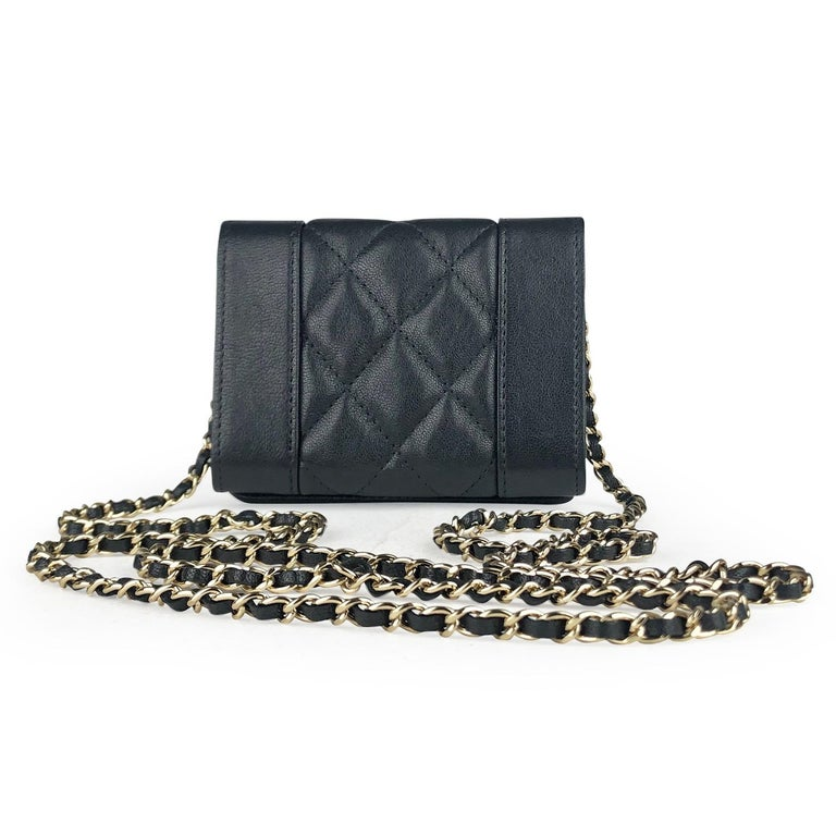 Chanel Mademoiselle Wallet on Chain Crossbody Bag In Excellent Condition For Sale In Sundbyberg, SE
