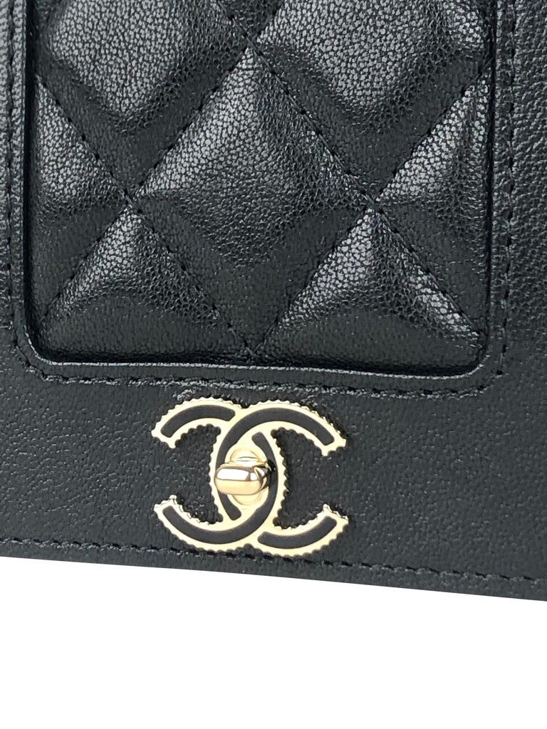 Chanel Mademoiselle Wallet on Chain Crossbody Bag For Sale 2