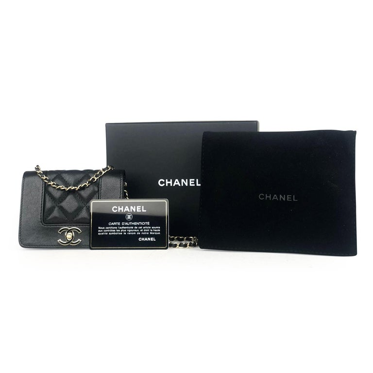 Chanel Mademoiselle Wallet on Chain Crossbody Bag For Sale 5