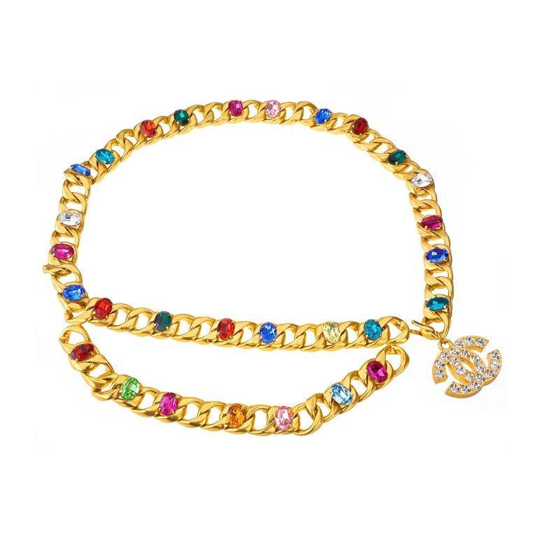Chanel magnificent bijoux belt with rhinestones In Excellent Condition In Chicago, IL