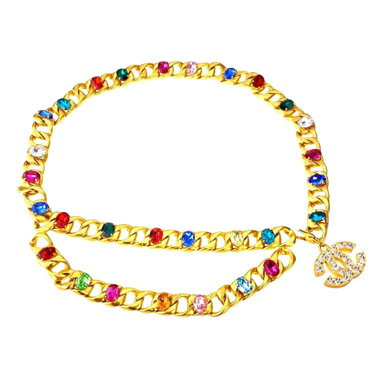 Chanel magnificent bijoux belt with rhinestones