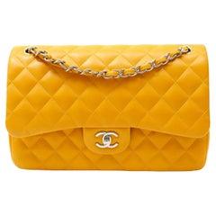 Chanel Marigold Lambskin Jumbo Classic Double Flap Bag