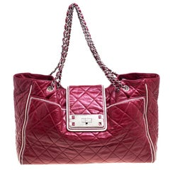 Chanel Maroon Quilted Leather Accordion Reissue Shoulder Bag