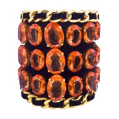 Chanel Massive Rhinestones Bangle