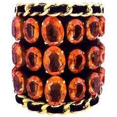 Chanel Massive Rhinestones Bangle