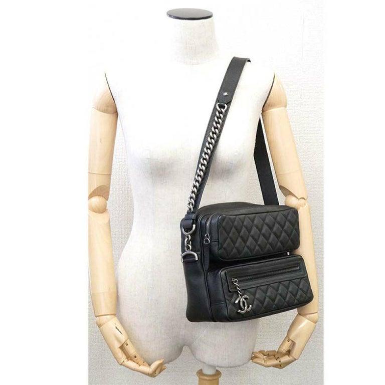CHANEL matelasse chain shoulder  Camera bag Womens shoulder bag black x antique  For Sale 8