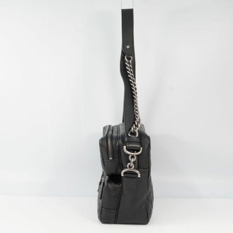 Black CHANEL matelasse chain shoulder  Camera bag Womens shoulder bag black x antique  For Sale