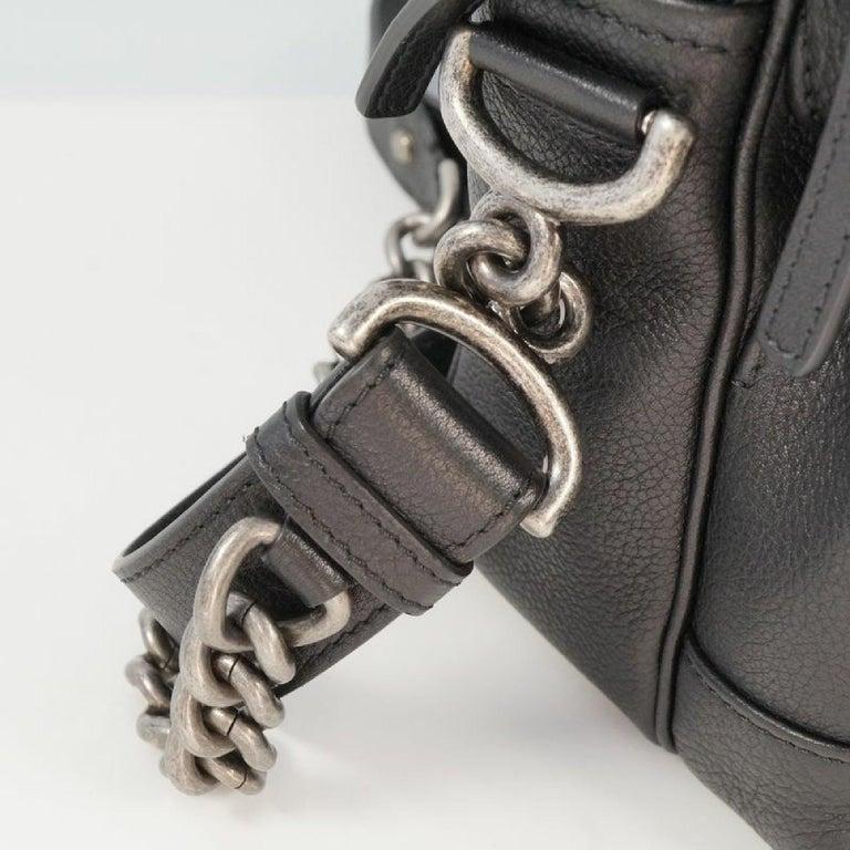 CHANEL matelasse chain shoulder  Camera bag Womens shoulder bag black x antique  For Sale 2