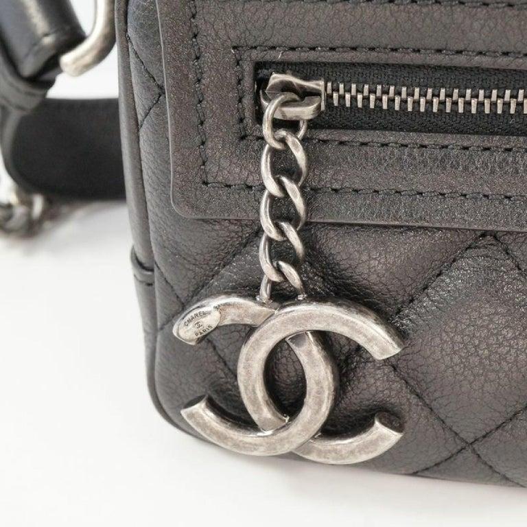 CHANEL matelasse chain shoulder  Camera bag Womens shoulder bag black x antique  For Sale 3
