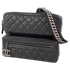 CHANEL matelasse chain shoulder  Camera bag Womens shoulder bag black x antique