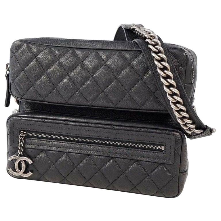 CHANEL matelasse chain shoulder  Camera bag Womens shoulder bag black x antique  For Sale