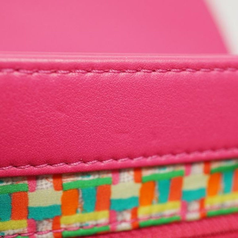 CHANEL matelasse chain shoulderー Womens shoulder bag pink x silver hardware For Sale 6