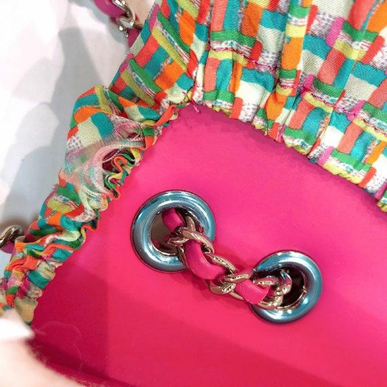 CHANEL matelasse chain shoulderー Womens shoulder bag pink x silver hardware For Sale 10