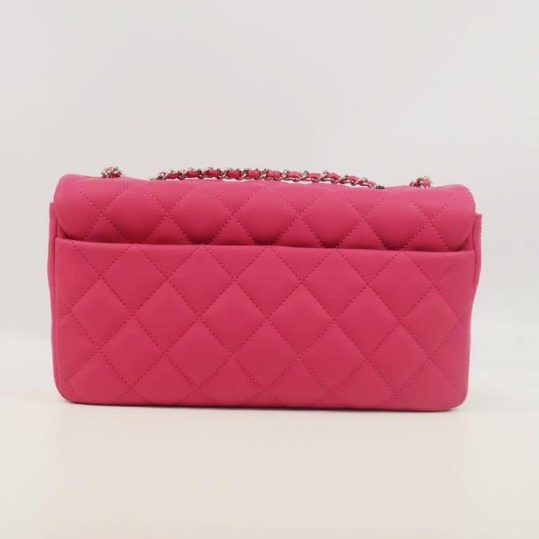 Red CHANEL matelasse chain shoulderー Womens shoulder bag pink x silver hardware For Sale