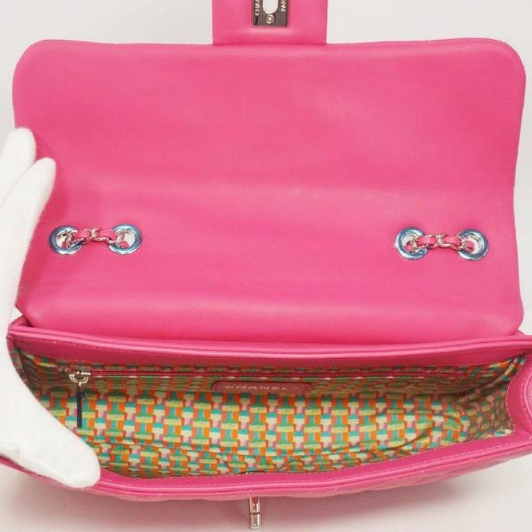 CHANEL matelasse chain shoulderー Womens shoulder bag pink x silver hardware For Sale 4