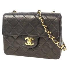 CHANEL matelasse Mini chain shoulderー shoulder bag black x gold hardware