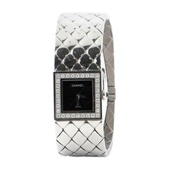 Chanel Matelasse Quartz Watch Stainless Steel with Diamond Bezel 19