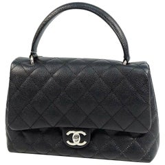 CHANEL matelasse Womens handbag black x silver hardware