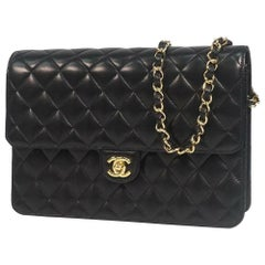 CHANEL matelasse25 chain shoulder  Womens shoulder bag black x gold hardware
