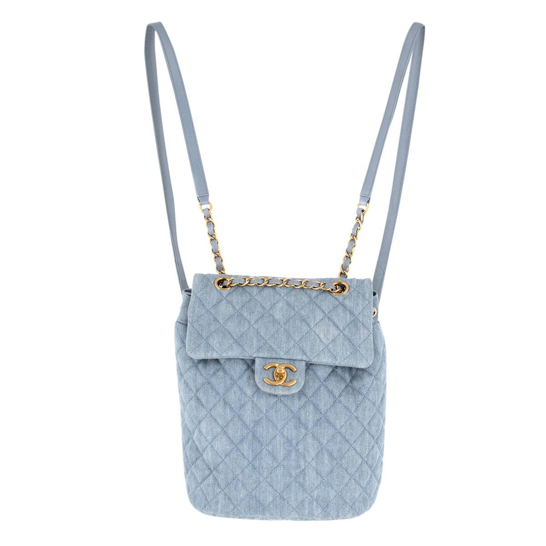 da05e9fe121a7b Chanel Matrasse denim backpack For Sale at 1stdibs