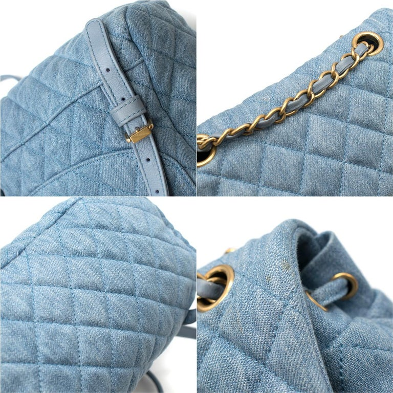 Chanel Matrasse Coco Mark denim backpack For Sale 3