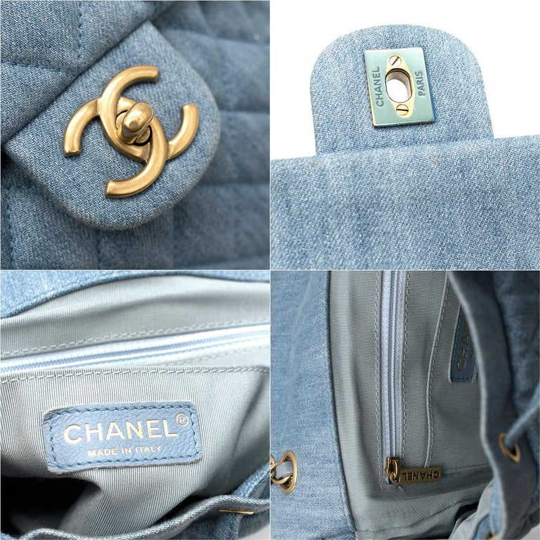 Chanel Matrasse Coco Mark denim backpack For Sale 4