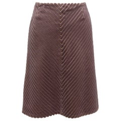 Chanel Mauve Identification Textured Velvet Skirt