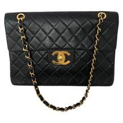 Chanel Maxi Black Leather Bag