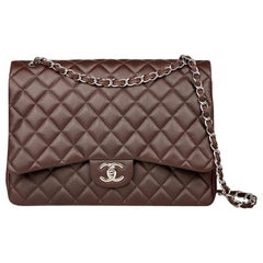 Chanel Maxi Brown Classic/Timeless Double Flap Bag