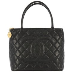Chanel Medallion Tote Quilted Caviar, crafted from black quilted caviar leather