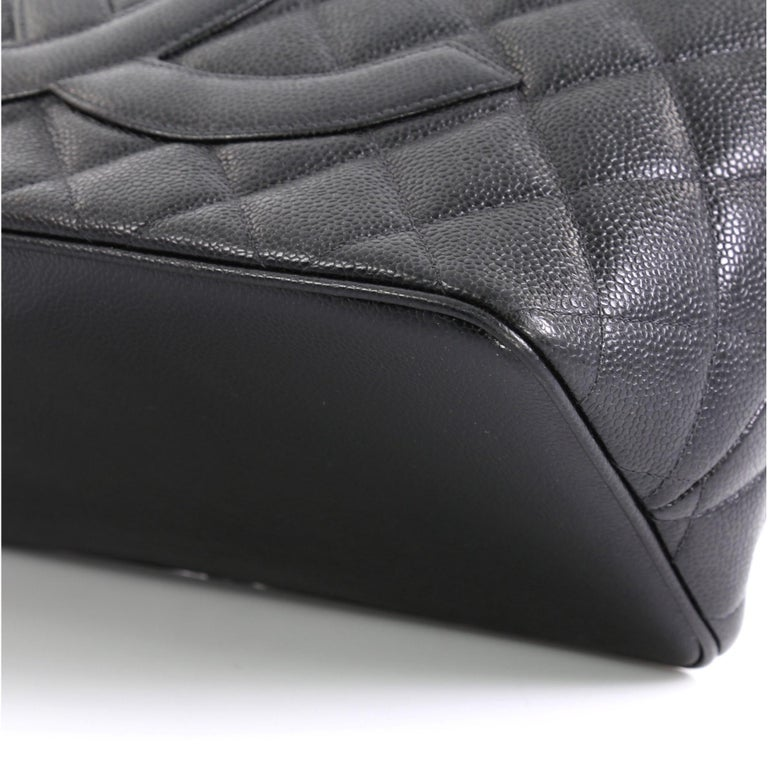 Women's Chanel Medallion Tote Quilted Caviar