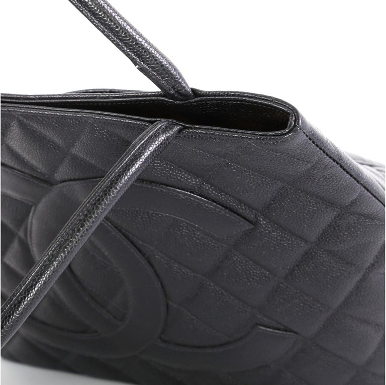 Chanel Medallion Tote Quilted Caviar 2