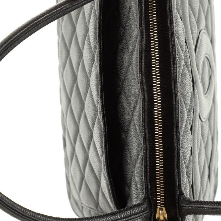 Chanel Medallion Tote Quilted Caviar  For Sale 4
