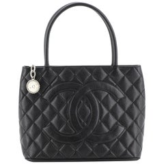 Chanel Medallion Tote Quilted Caviar