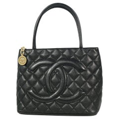 CHANEL Medallion tote Womens tote bag A01804 black x gold hardware
