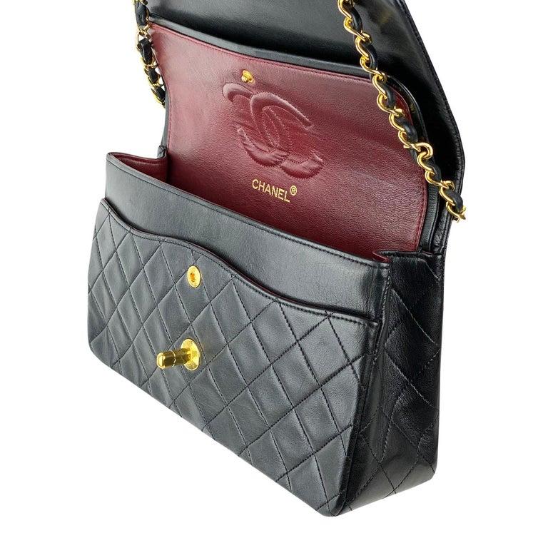 Chanel Medium Black Classic Double Flap Bag 6