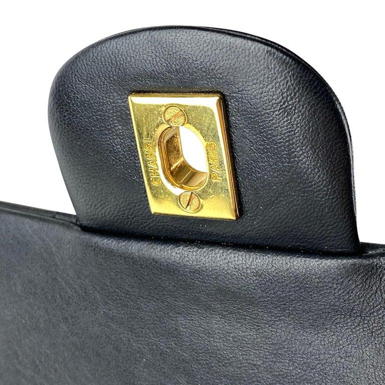 Chanel Medium Black Classic Double Flap Bag 7