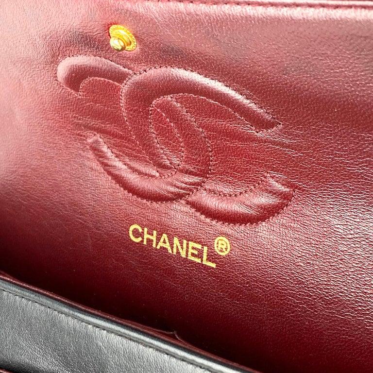 Chanel Medium Black Classic Double Flap Bag 8