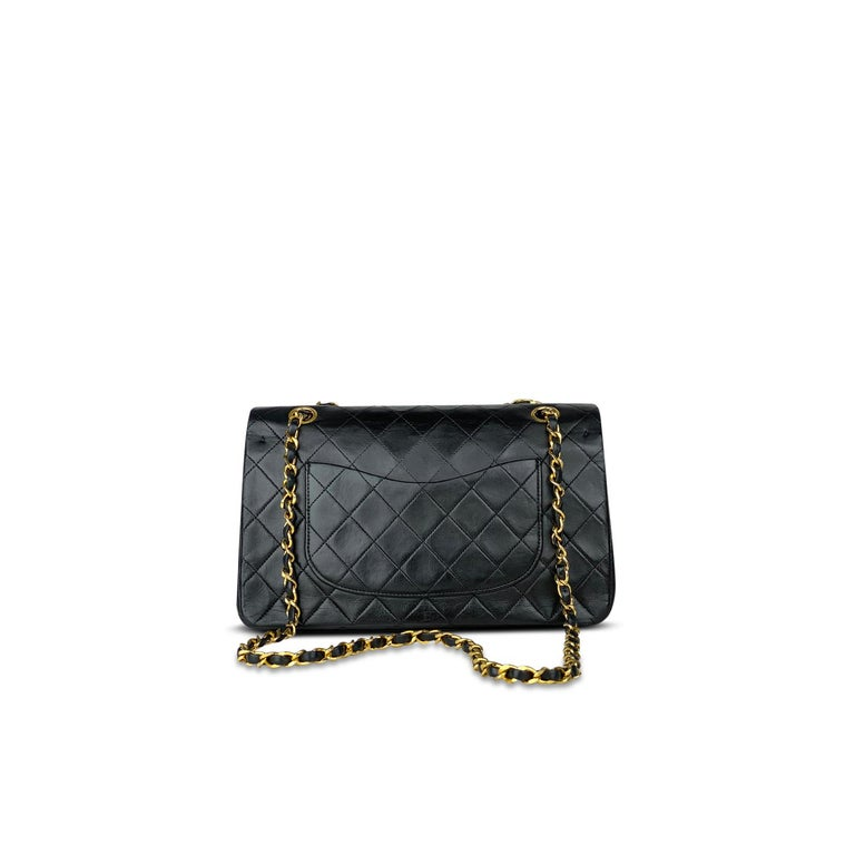 Chanel Medium Black Classic Double Flap Bag In Good Condition In Sundbyberg, SE
