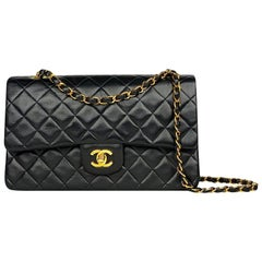 Chanel Medium Black Classic/Timeless Double Flap Bag