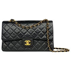 Chanel Medium Black Classic/Timeless Double Flap Bag