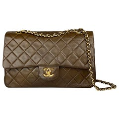 Chanel Medium Brown Classic/Timeless Double Flap Bag