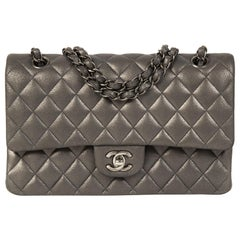 f470421df Chanel Medium Classic Flap Bag Metallic Silver